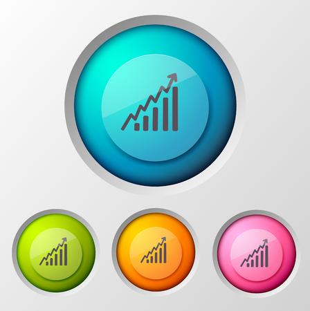 Business Diagram Icon Background Illustration