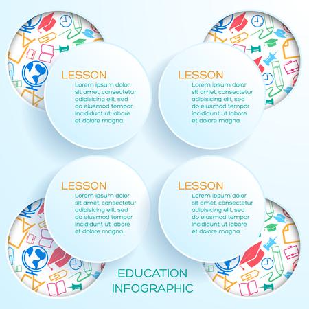 Back To School Infographics Illustration