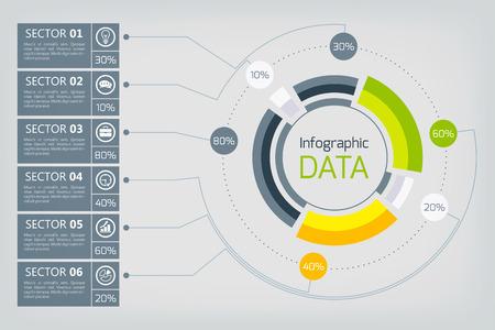 Web Business Infographics Reklamní fotografie