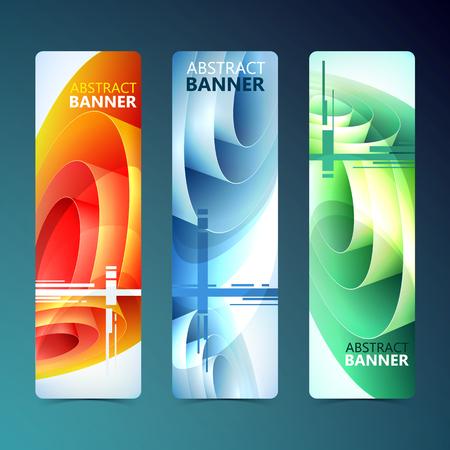 Bandiere verticali pulite astratte. Archivio Fotografico - 89937920