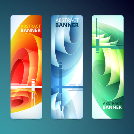 Abstract Clean Vertical Banners.