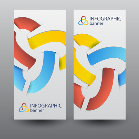 Infographic Business Vertical Banners