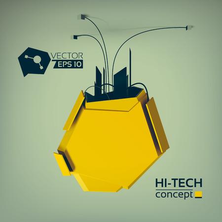 Hi-Tech Abstract Design Concept Illustration