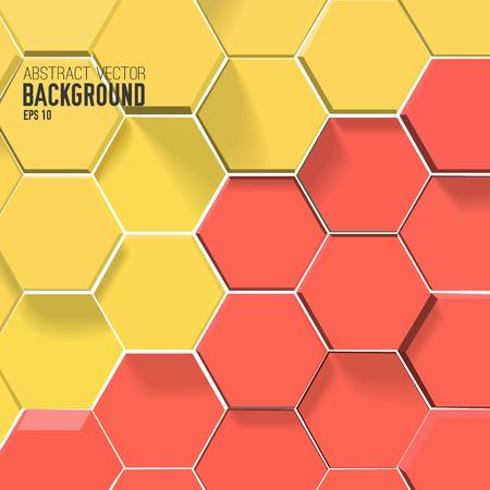 Sechsecke abstrakten Hintergrund Standard-Bild - 90937205