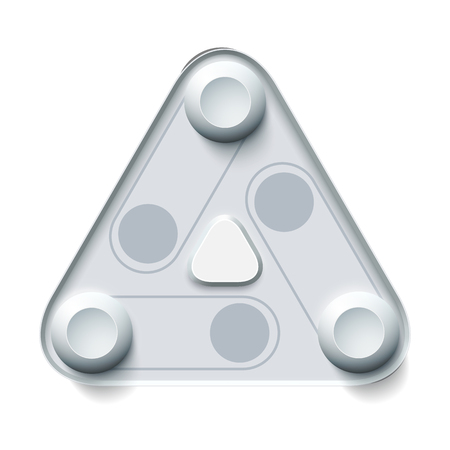 Abstract Gray User Interface Concept in a triangular shape