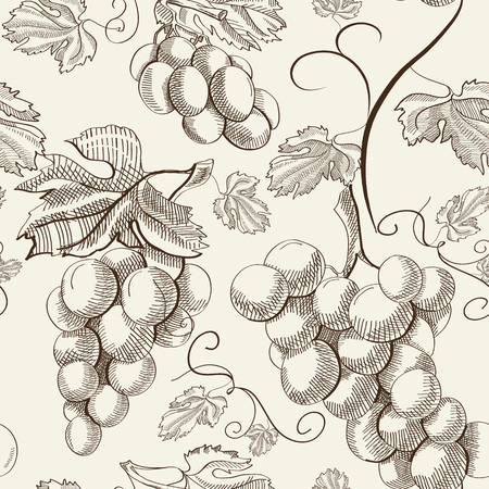 Abstract Berry Seamless Pattern Illustration