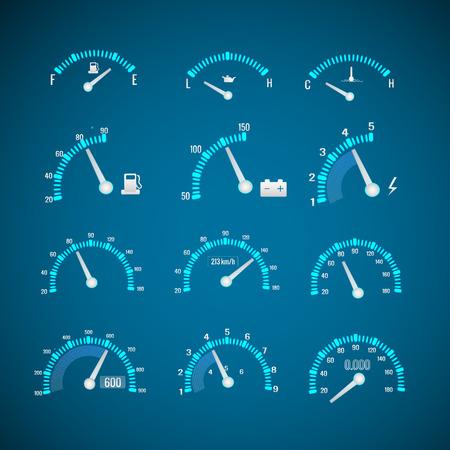 Conjunto de elementos de interface de carro Foto de archivo - 90335596