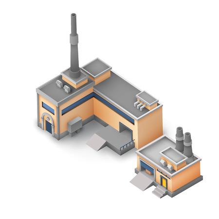 Isometric Industrial Area Concept