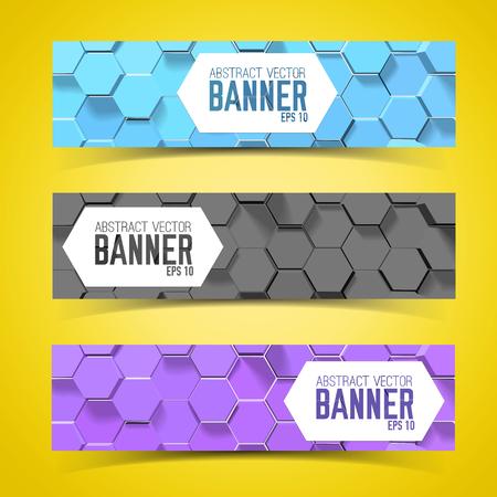 Pentagon Banner Set Ilustração