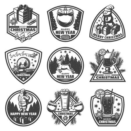 Vintage Nieuwjaar Labels Set