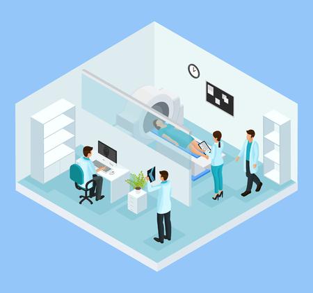 Isometrisch MRI-diagnostisch procesconcept Stockfoto - 90373811