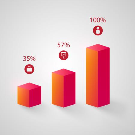 ビジネス抽象グラフインフォグラフィック