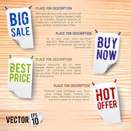 Korting poster vectorillustratie. Stock Illustratie