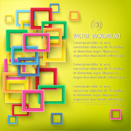 Abstract Bright Geometric Poster