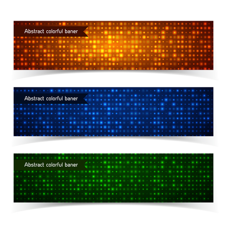 Abstract Technologic Colorful Horizontal Banners