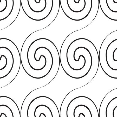 Abstract Swirl Monochrome Seamless Pattern