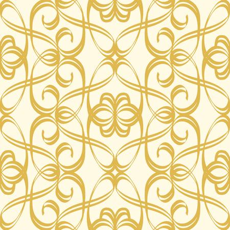 抽象的なシームレスな規律のないスタイルのゴールドパターン