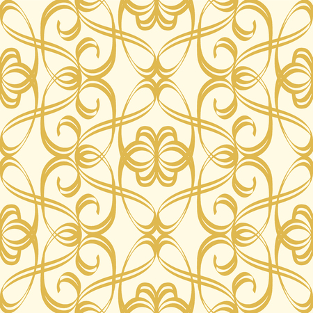 Abstract Seamless Undisciplined Style Gold Pattern