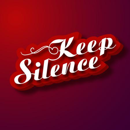 Typographic Design Concept - Keep silence Stok Fotoğraf - 90685552