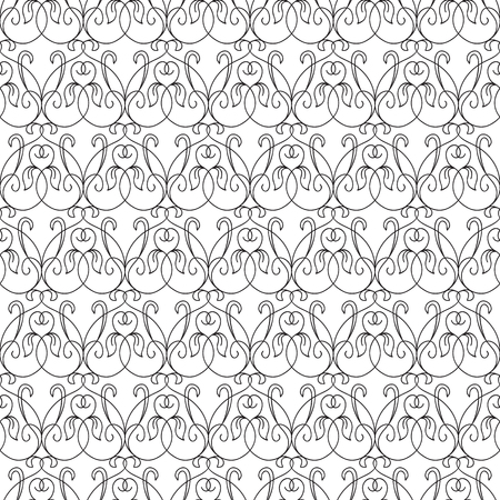 Abstract Minimalistic Floral Seamless Pattern