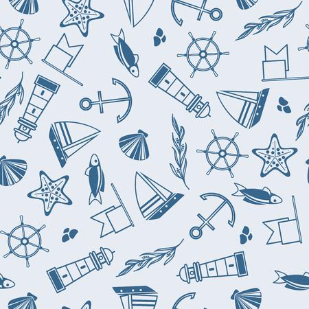 Yachting naadloze patroon