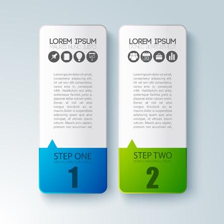Infographic bedrijfsconcept met twee Paperboards