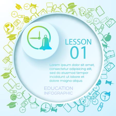School Education Infographics Illustration