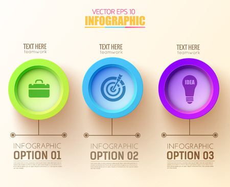 Abstract Options Infographic Concept Vector illustration.