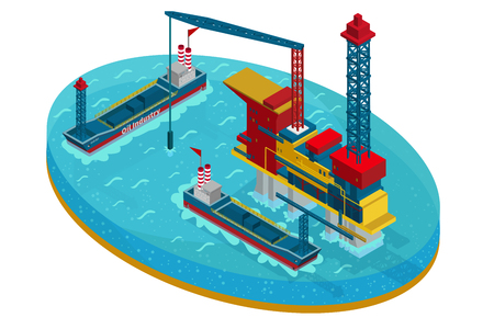 Isometric Oil Extraction In Sea Concept Imagens - 91001973