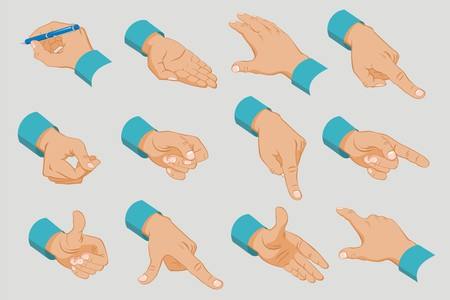 Male Hands Collection Stock Vector - 91003741