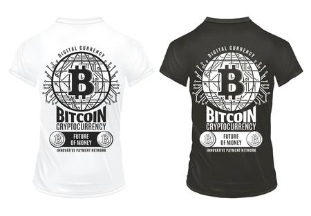 ビンテージ Bitcoin 暗号通貨印刷テンプレート