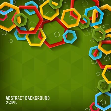 Abstract geometric light template