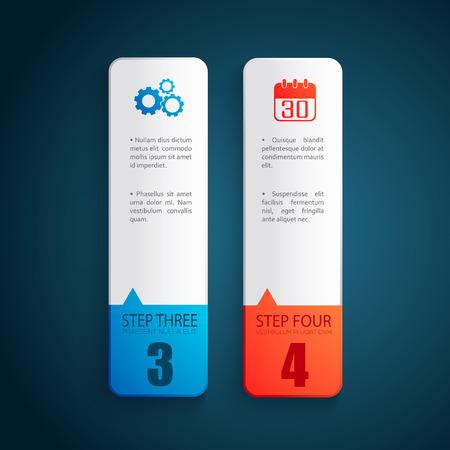ビジネス デザイン コンセプト。バナー セット  イラスト・ベクター素材