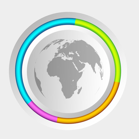 Infographic Web Concept Stock Photo
