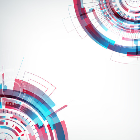 Innovative Virtual Abstract Future Template Çizim