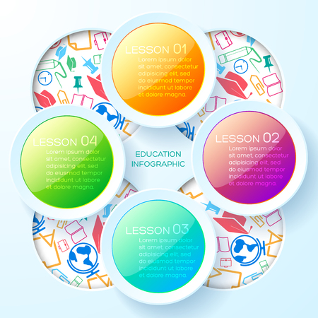 School Learning Infographic Template