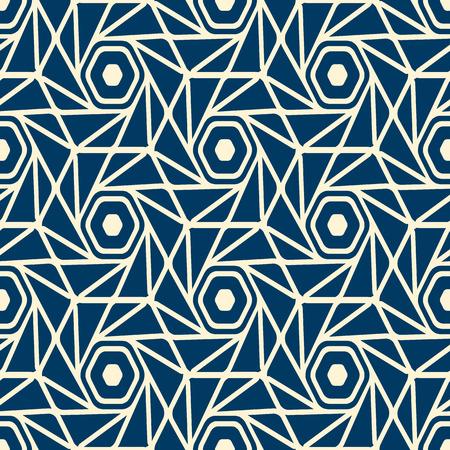 Seamless White Blue Pattern Иллюстрация
