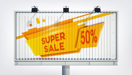 Big Billboard Sale Banner Ilustração