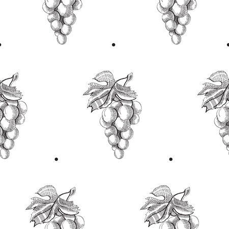 Abstract Fruit Hand Drawn Seamless Pattern