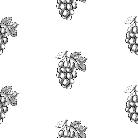 Abstract Sketch Berry Seamless Pattern