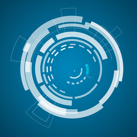 Modern Virtual Technology Diagram Poster Иллюстрация