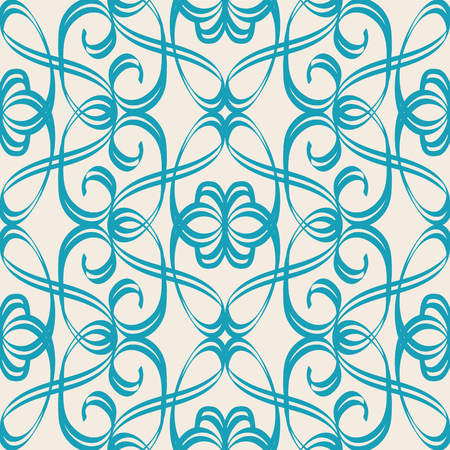 Abstract Seamless Harmonious Design Blue And White Pattern