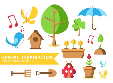 Garden Tools Set Collection Illustration