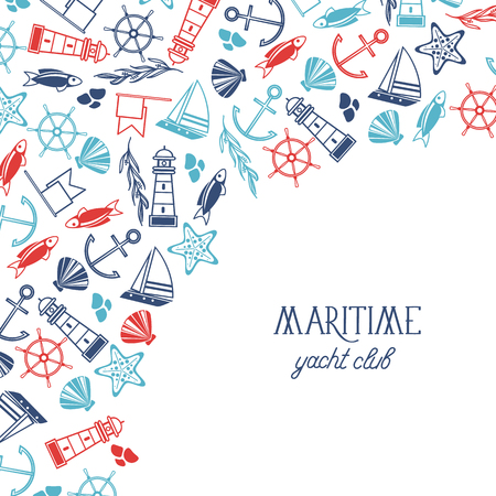 Maritieme kleurrijke Yacht Club Poster