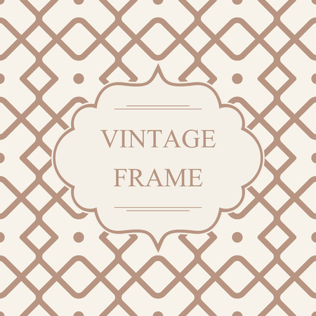 Abstract Monochrome Vintage Frame Template