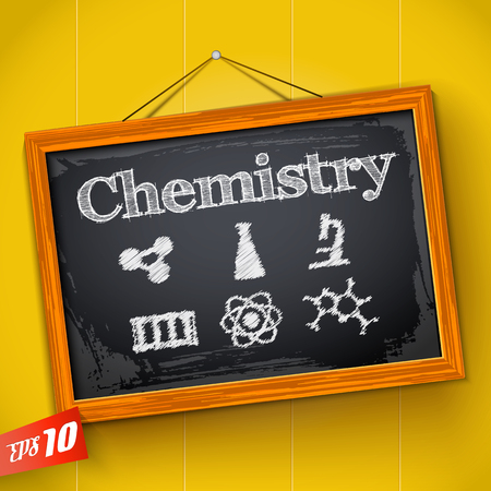 Chemistry On Hanging Chalkboard