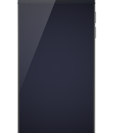 Realistic modern design smartphone concept on the white background with glossy black blank divided on two halfs because of shadow isolated vector illustration