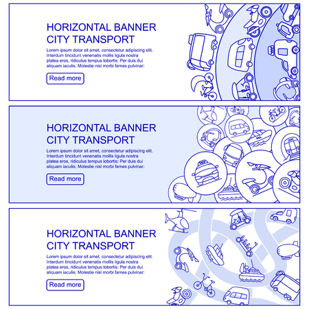 Monochrome City Transport Horizontal Banners