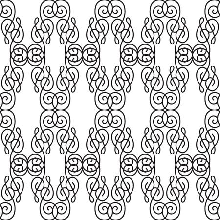 Abstract Ornate Seamless Pattern Illusztráció