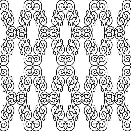 Abstract Ornate Seamless Pattern Illustration